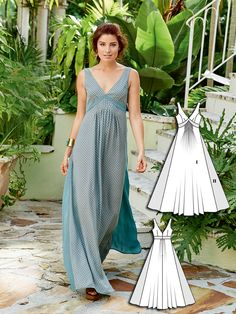 Boho Maxi Dress 04/2016 #101B #burdastyle #sew #sewing #pattern #diy