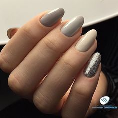 mixed greys and monotone nails for new years eve