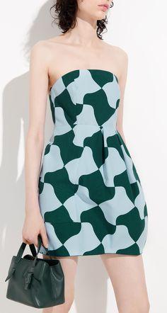Robe bustier en toile puzzle - Les robes - Collection - Nouvelle collection
