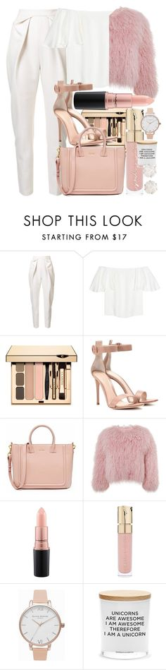 """""""Pink and White"""" by marias1808 ❤ liked on Polyvore featuring Delpozo, Valentino, Gianvito Rossi, Charlotte Simone, MAC Cosmetics, Smith & Cult, Olivia Burton, Damselfly Candles and Chanel"""