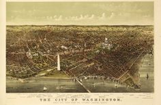 Check out this amazing shop on Etsy that sells the most wonderful vintage map art of your favorite cities.  What a great personal gift idea to honor the places that mean the most to someone.  Vintage Map Washington DC 1892 by Imagerich on Etsy