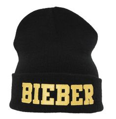 Justin Bieber beanie by smoothoutcome on Etsy, £9.99