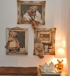 Nice way to display favorite bears instead of the bottom of the closet!