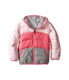 The North Face Kids - Reversible Moondoggy Jacket (Toddler) (Coy Pink) Girl's Coat