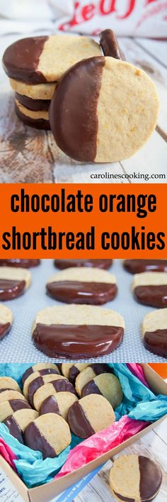 These chocolate orange shortbread cookies melt in your mouth with their delicious, delicate flavor, and the complementary chocolate on top. Easy to make and perfect for gifting, sharing, and enjoying on repeat. #AD