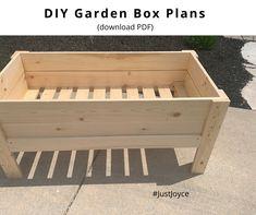 Garden Box Plans, Planter Box Plans, Raised Planter Boxes, Raised Garden Bed Plans, Diy Planter Box, Garden Boxes, Raised Beds, Wagon Planter, Garden Ideas