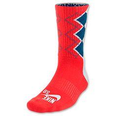 Men's Nike SB Dri-FIT Argyle Skate Crew Socks  Finish Line   White/New Slate/Light Crimson