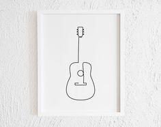 Music Drawings, Pencil Art Drawings, Doodle Drawings, Art Drawings Sketches, Easy Drawings, Simple Doodles Drawings, Cool Doodles, Guitar Doodle, Guitar Drawing