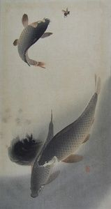 Three Carp One Jumping for a Fly | Sanders of Oxford