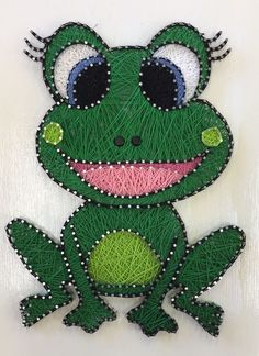 Cute Cartoon Frog Finished for client  Custom String Art Frog Princess