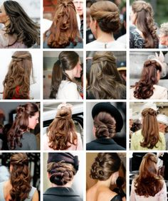 Favourite hairstyles of the Duchess of Cambridge
