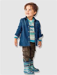 Jeanshemd - Bequem, lässig und das ganze Jahr im Einsatz   #vertbaudet #Herbst #Winter #2015 #Kinderkleidung #Jungenmode