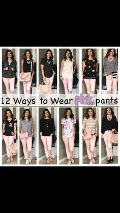 Light Pink Outfit From Bershka Pink Jeans Outfit, Olive Green Pants Outfit, Pink Shorts, Burgundy Pants Outfit, Colored Jeans Outfits, Colored Pants, Casual Work Outfits, Cute Outfits, Light Pink Pants
