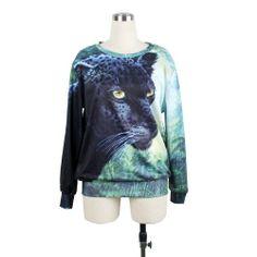 $20.99 awesome LoveLiness Animals Leopard Patterns Digital Print Sweatshirt Sweaters