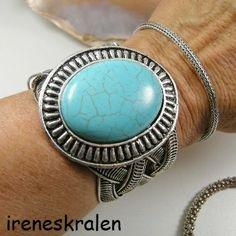 Armband Faux Turquoise Breed Trend 2014 van irenesKralen op DaWanda.com