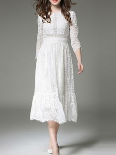 Shop White Mesh Lace Long Dress online. SheIn offers White Mesh Lace Long Dress & more to fit your fashionable needs.