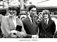 Prince of Wales and Lady Diana Spencer Visiting Tetbury.