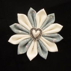 Handmade Kanzashi Fabric Flower tutorial