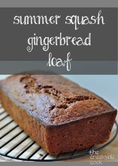 The best of summer veggies and fall baking: Summer Squash Gingerbread Loaf on The Creekside Cook Yellow Squash Recipes, Summer Squash Recipes, Dessert Bread, Dessert Recipes, Desserts, Brunch Recipes, Crookneck Squash Recipes, Pattypan Squash, Summer Squash Bread