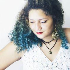 cabelo colorido cabelo cacheado cabelo azul blue curly hair natural hair mermaid hair cabelo de sereia
