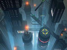 sci-fi metropolis