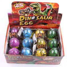 대형 12 개/대 물 부화 인플레이션 공룡 계란 참신 장난감 균열 성장 계란 교육 장난감 아기 소년-50