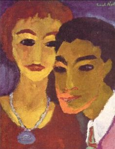 Brother and Sister by Emil Nolde Oil on canvas, Emil Nolde, Paula Modersohn Becker, Amedeo Modigliani, Wassily Kandinsky, Life Drawing, Painting & Drawing, Pablo Picasso, Karl Schmidt Rottluff, James Ensor