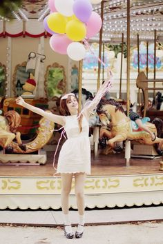 Can't wait to have balloons and cotton candy and temporary mustache tattoos... all in front of and ON the carousel!!