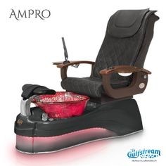 Relax in this sleek new Ampro Pedicure Chair having leather upholstery, power slide and recline available in an assortment of vibrant colors, artistic Glass Bowl, ID Jet Pipeless Jet System Installed with Mood Therapy Lights and Adjustable Footrest. Salon Furniture For Sale, Nail Salon Furniture, Spa Furniture, Selling Furniture, Spa Pedicure Chairs, Pedicure Chairs For Sale, Pedicure Spa, Spa Chair, Massage Chair