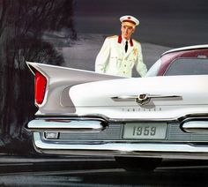 1959 Chrysler New Yorker...in a beautiful pristine white..like the doorman...!