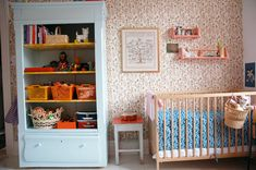 Children's room - Vintage cupboard - Via Lena Corwin