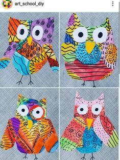 Kindergarten Art Lessons, Art Lessons Elementary, Kids Art Class, Art For Kids, Kids Art Galleries, First Grade Art, Fall Art Projects, Jr Art, Ecole Art