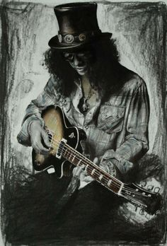 Slash....I wouldn't swear my life to it but I think this is a drawing/painting rather than a photo. I love it