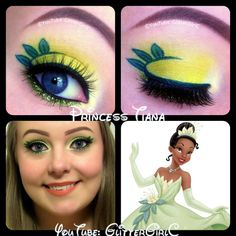 Disney Princess Tiana makeup. YouTube channel: https://www.youtube.com/user/GlitterGirlC