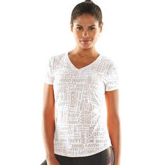 Women's Tek Gear® Burnout Yoga Tee, Size: Large, White