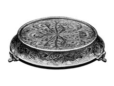 glittering silver wedding cake stand tapered 18 round