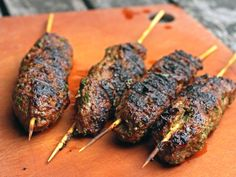 Brochettes: grilled moroccan lamb kefta