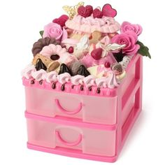 Amazon.com: Sweet mini drawer for your desk/roses cream cakes donuts/adorable fake dessert and food craft/Tokyo Dessert Factory: Everything Else
