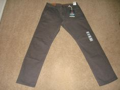 Dockers Alpha Stretch Khaki Pants Slim Tapered Stretch New Dark Pebble 32 X 32 #DOCKERS #KhakisChinos