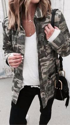 currently obsessed with the military jacket