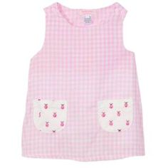 A delicate pink gingham aline dress with custom ladybug fabric pockets. Pink Gingham, Embroidered Clothes, Baby Sewing, Ladybug, Delicate, Fabric, How To Make, Tops, Dresses