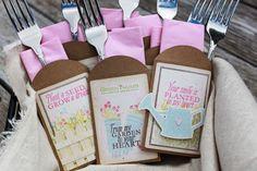 seed packet silverware holders