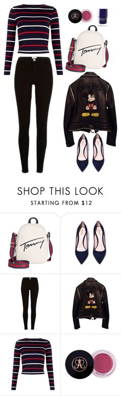 """""""1"""" by alin-dee on Polyvore featuring мода, Tommy Hilfiger, River Island, Philipp Plein и Nails Inc."""