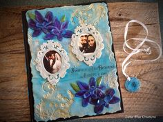 Personalized Journal, Customized Journal, Steampunk Travel Journal, Vintage Inspired Journal – Luna Blue Gifts | Handmade Polymer Clays Personalized Journals, Personalized Gifts, Handmade Gifts, Polymer Clay Art, Handmade Polymer Clay, Clays, Journal Covers, Journalling, Quilling