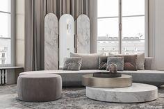 Living Room Grey, Living Room Sofa, Living Room Decor, Living Area, Lobby Interior, Interior Architecture, Arrondissement, Interior Design Studio, Luxury Living