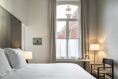 Under the guidance of legendary Belgian architect Vincent Van Duysen in his first-ever hotel project.The story of Hotel August begins. Bedroom Retreat, Master Bedroom, French Hospital, Vincent Van Duysen, Restaurant Concept, Bar Lounge, Hotel Reviews, Boutique, Windows