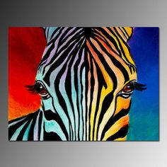 Shop for zebras art from the world's greatest living artists. All zebras artwork ships within 48 hours and includes a money-back guarantee. Choose your favorite zebras designs and purchase them as wall art, home decor, phone cases, tote bags, and more! Arte Zebra, Zebra Kunst, Zebra Art, Zebra Painting, Painting Prints, Art Prints, Rainbow Painting, Butterfly Painting, Pop Art
