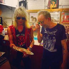 ⚡️Newsflash⚡️: Hanoi Rocks legend Michael Monroe is with us today at Flashback Records, Essex Road!  http://flashback.co.uk  #michaelmonroe #hanoirocks #glammetal #rock #flashback