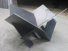 Our Modern Industrial Fire Pit is an original design thats sure to heat up your . - Our Modern Industrial Fire Pit is an original design thats sure to heat up your patio or backyard. Metal Fire Pit, Wood Burning Fire Pit, Diy Fire Pit, Fire Fire, Industrial Fire Pits, Industrial Metal, Metal Projects, Welding Projects, Origami Shapes