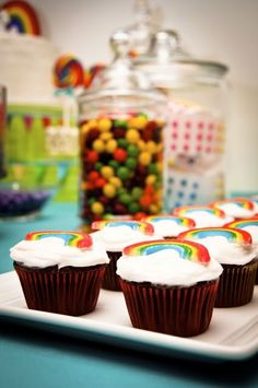 Rainbow themed kids party